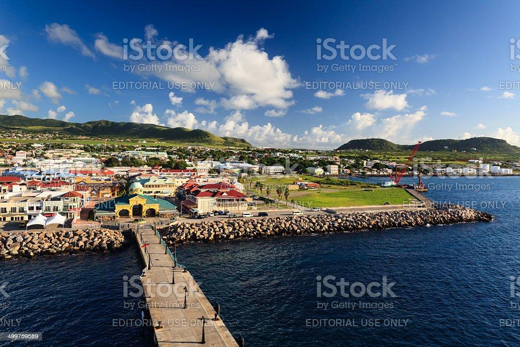 Basseterre Waterfront stock photo