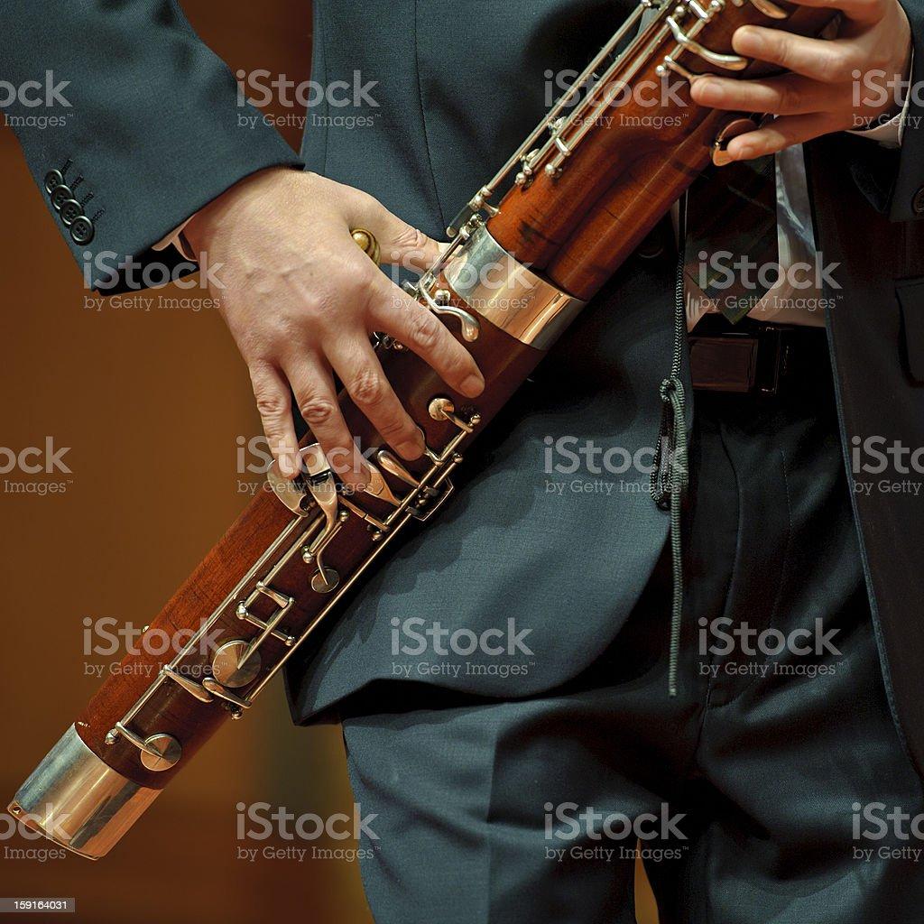 bassoonist royalty-free stock photo