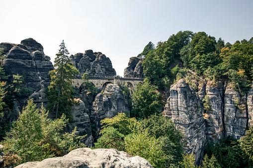 istock bastei bridge in saxon switzerland national park, saxony, germany 1088701184