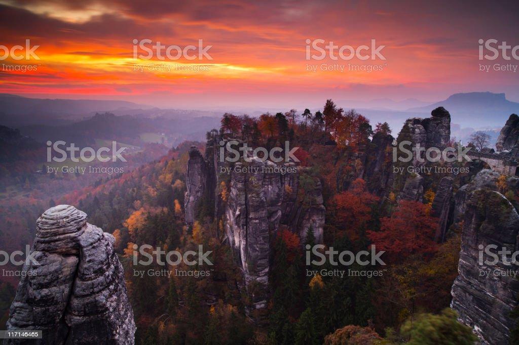 Bastei, Elbsandsteingebirge stock photo