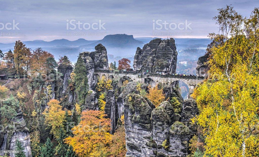 Bastei stock photo
