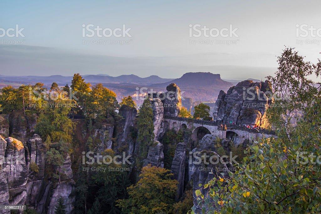 Basteibrücke im Nationalpark Sächsische Schweiz stock photo