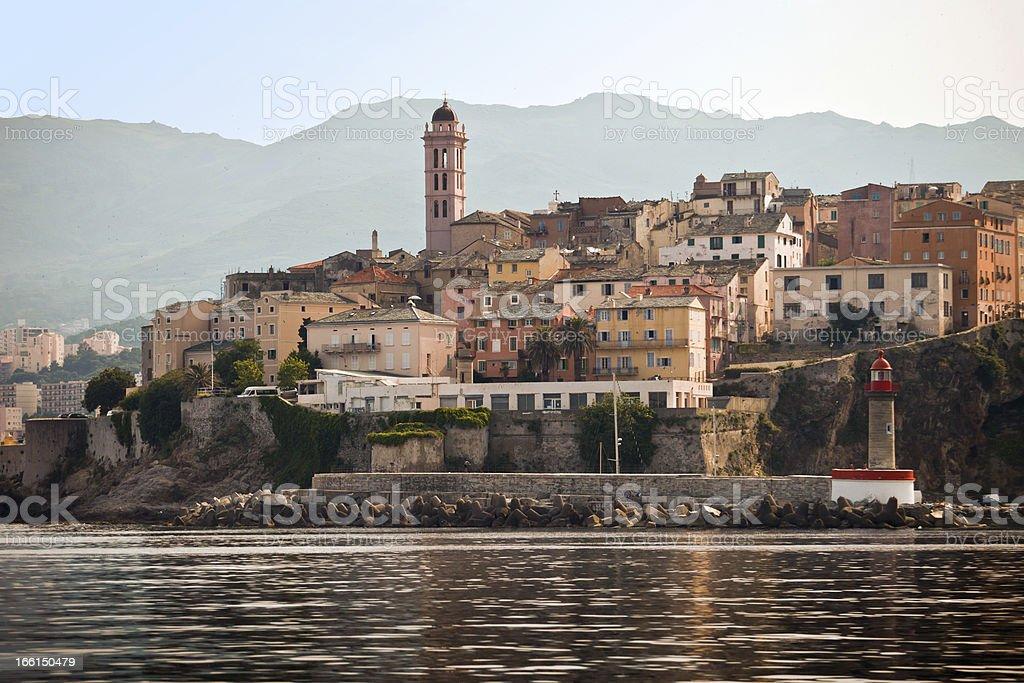 Bastia port Corse stock photo