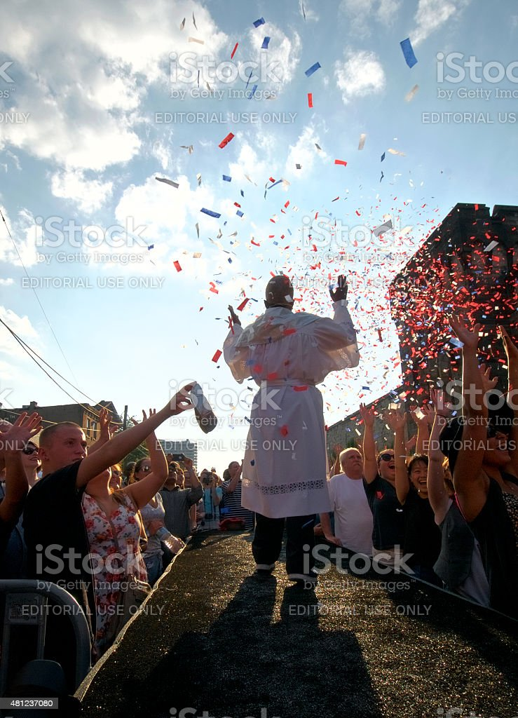 Bastille Day at Eastern State Penitentiary, Philadelphia, PA stock photo
