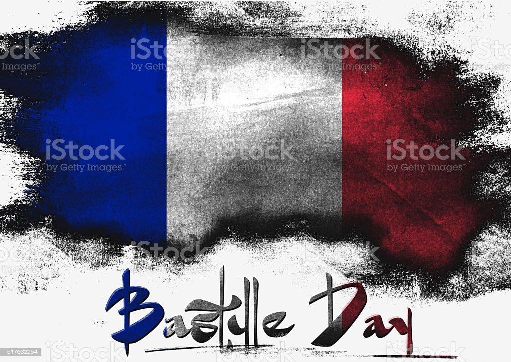 Bastille Day in France stock photo