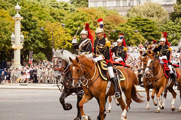 Bastille Day military parade stock photo