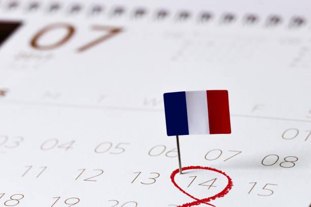 Calendrier de la fête nationale-14 juillet - Photo