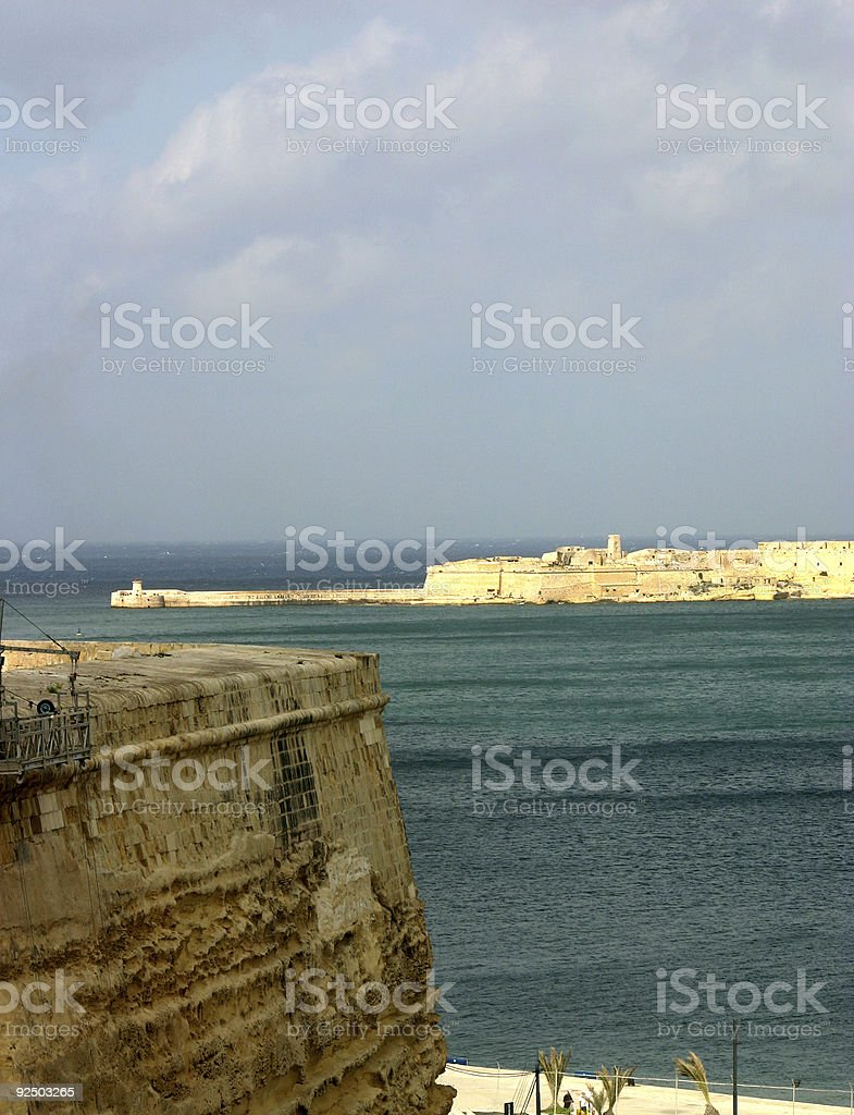 Bastions and port royalty-free stock photo