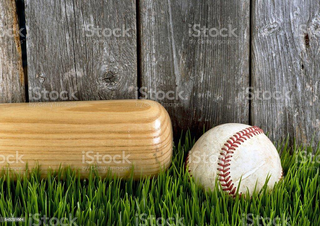 Bat and Baseball. stock photo