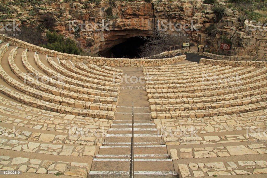 Bat Viewing Amphitheater stock photo