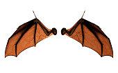 コウモリの翼は、クリッピング パスを持つコスチューム。
