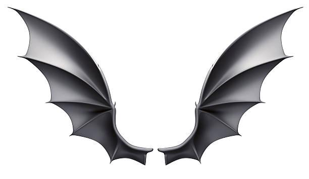 Bat wings stock photo