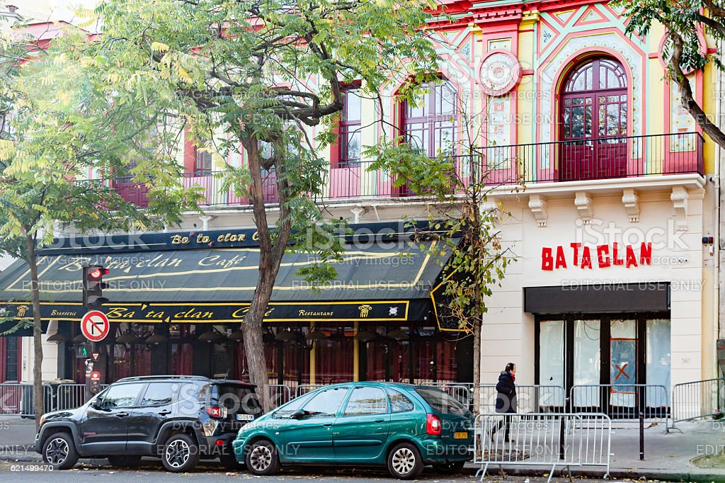 Bataclan concert hall new logo photo libre de droits