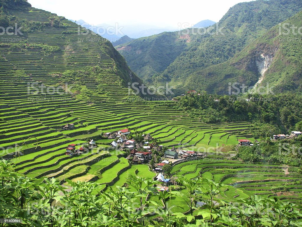 Batad Rice Terraces Village royalty-free stock photo