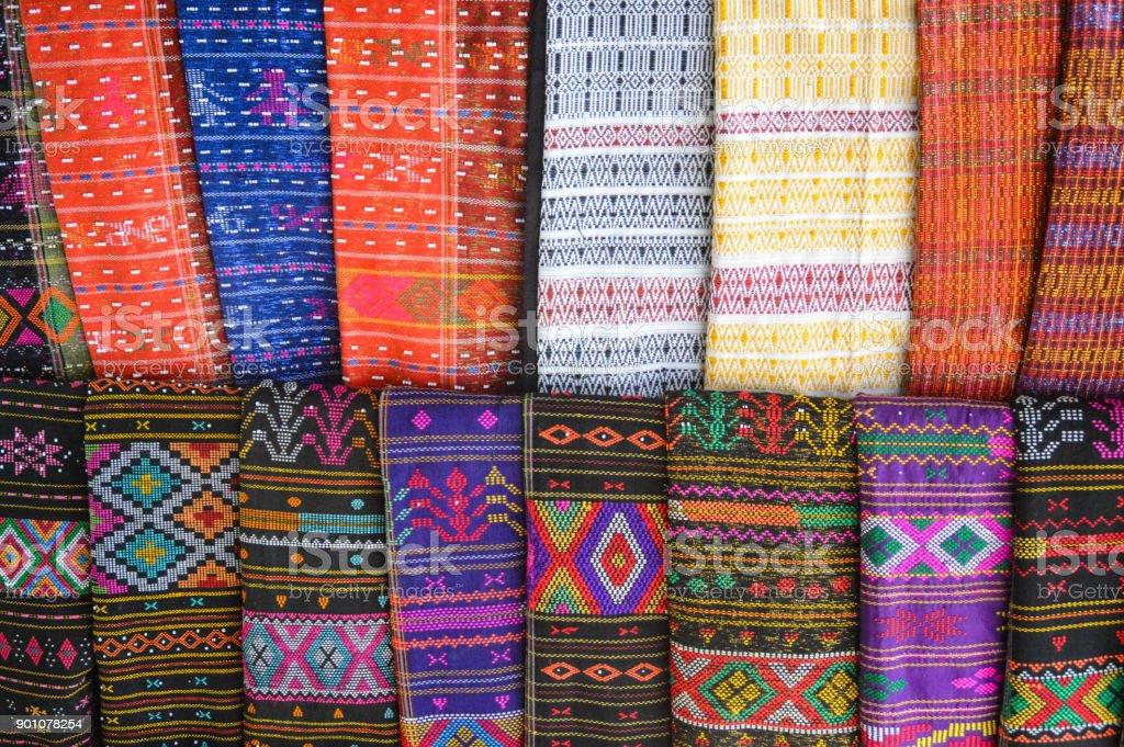 Batak fabric design stock photo