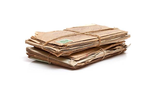 Lote de antigüedades de correo - foto de stock