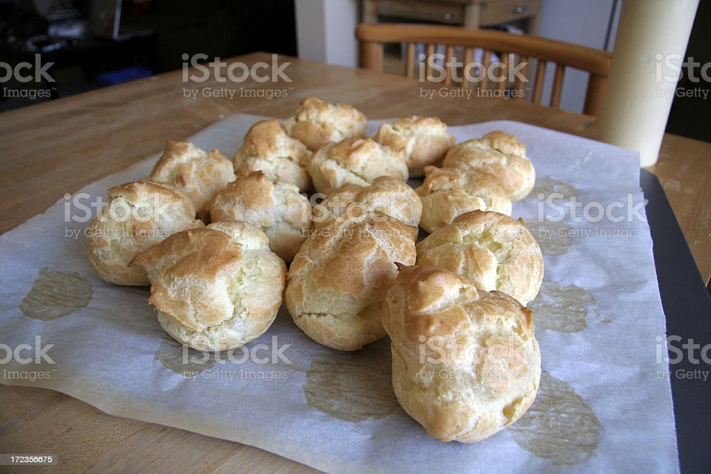 Batch of Cream Puffs royalty-free stock photo