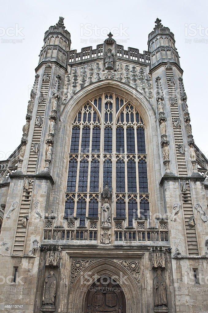 Bath Abbey Architecture Somerest England stock photo
