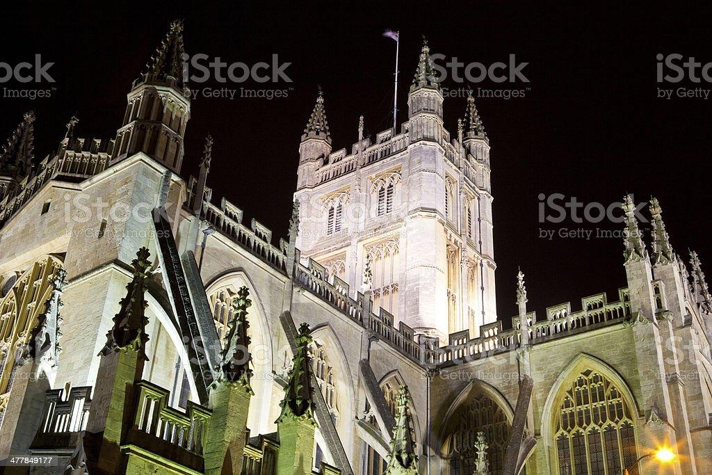 Bath Abbey at Night stock photo
