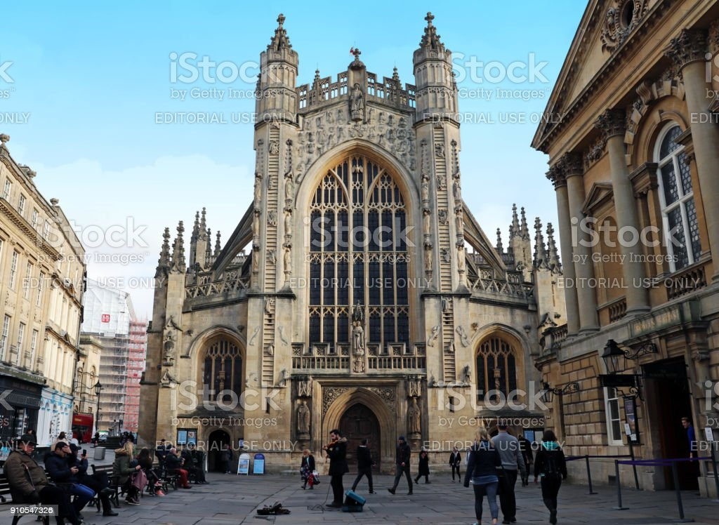 Bath Abbey, Bath, UK stock photo