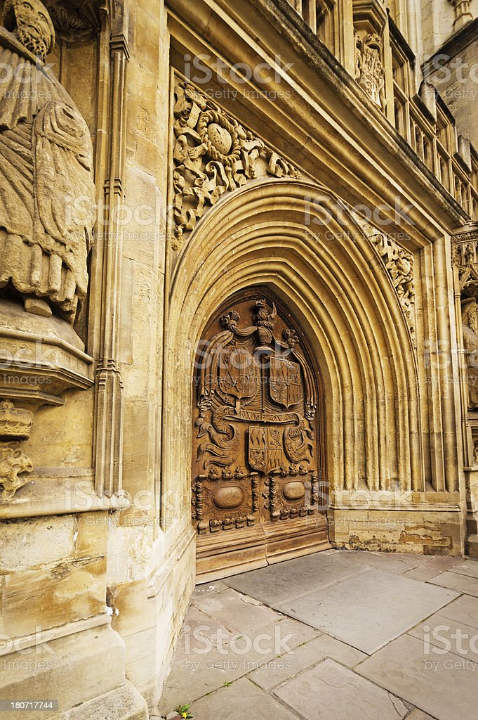 Bath Abbey Entrance royalty-free stock photo