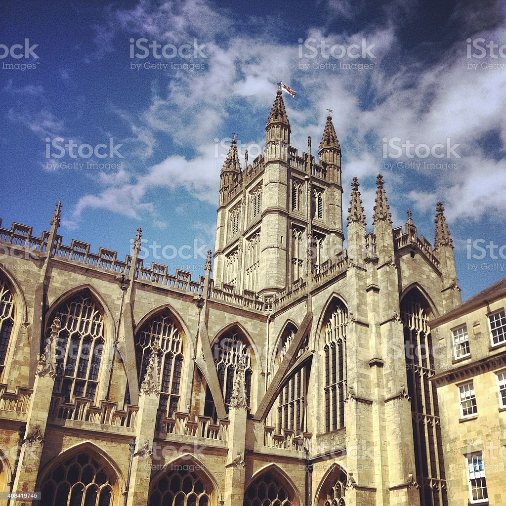 Bath Abbey stock photo