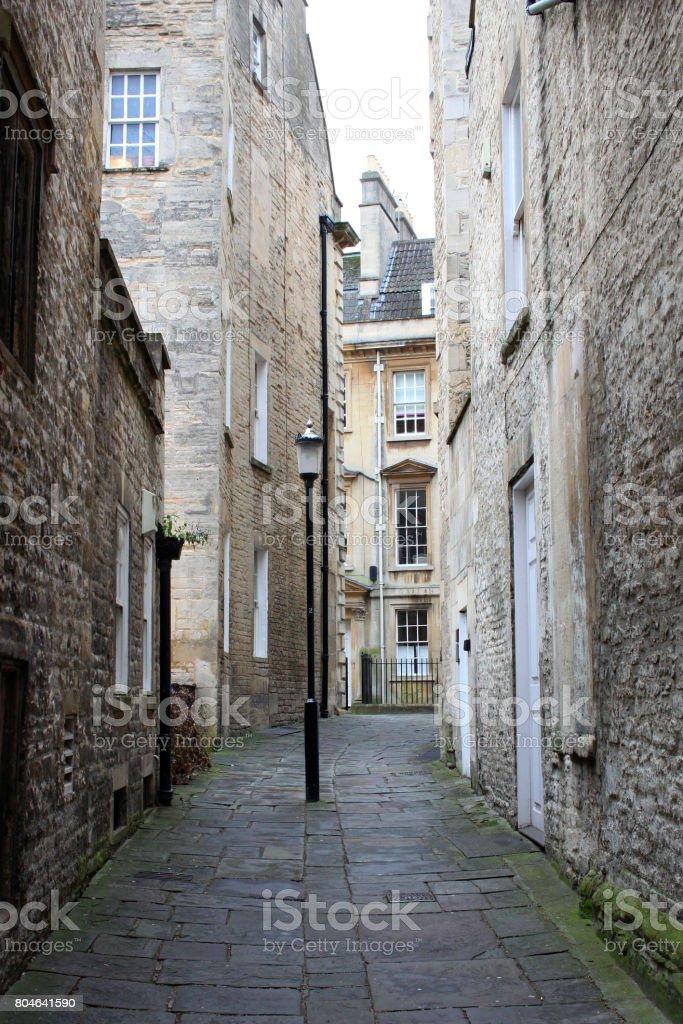 Bath alley stock photo