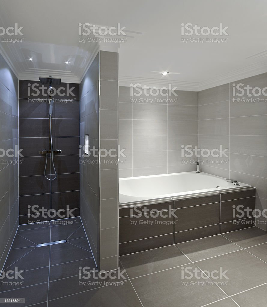 bath and shower royalty-free stock photo