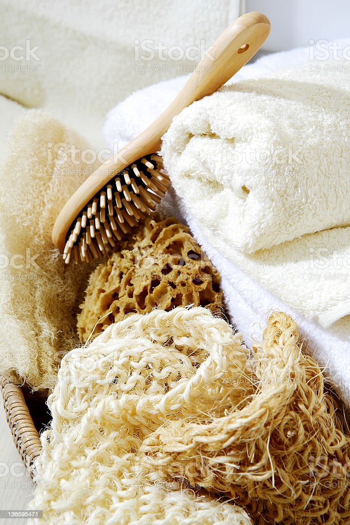 Bath and spa accessories stock photo
