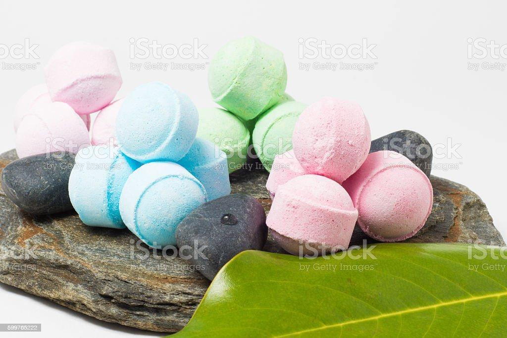 bath bombs stock photo