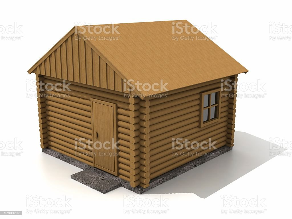 3D bath building royalty-free stock photo