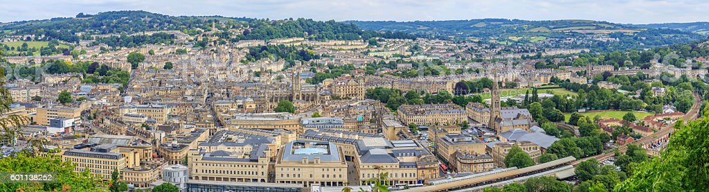 Bath City Panorama View stock photo