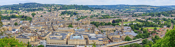 Bath City Panorama View Bath City Panorama View on the hill. bath england stock pictures, royalty-free photos & images