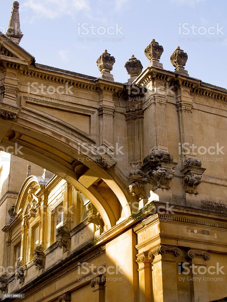 Bath England Archway, Molding stock photo