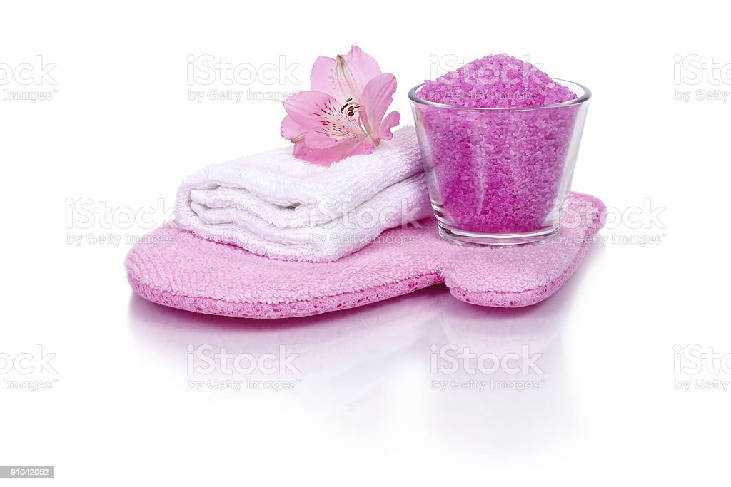 bath essentials stock photo