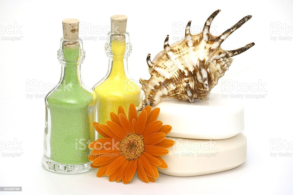 Bath Essentials royalty-free stock photo