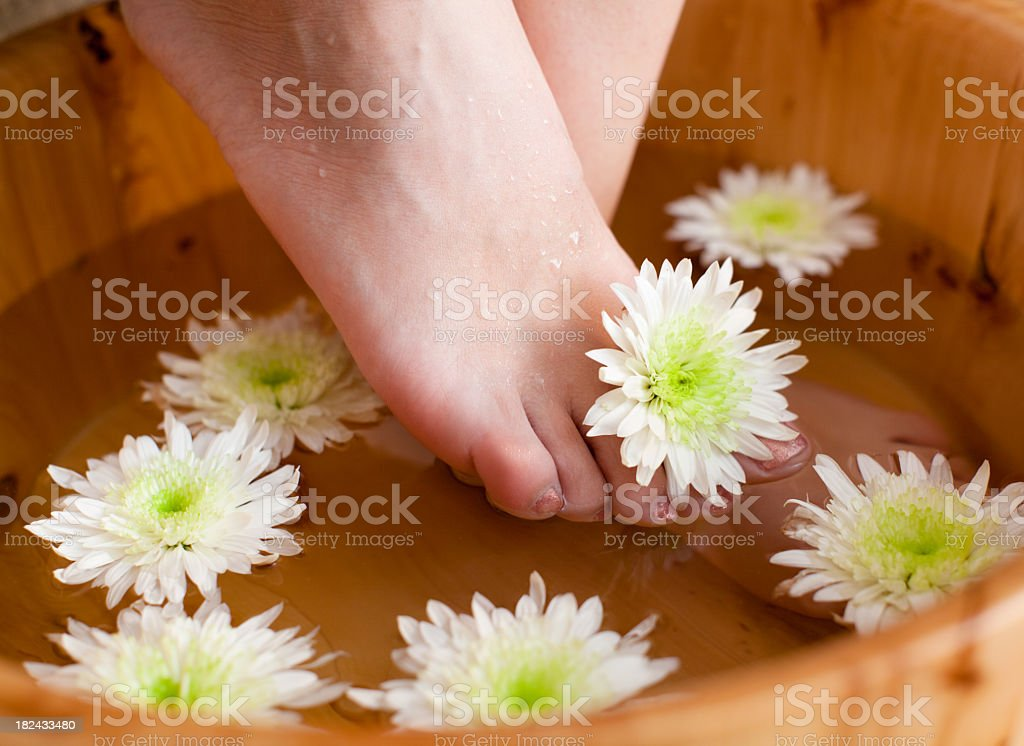 Bath for feet royalty-free stock photo