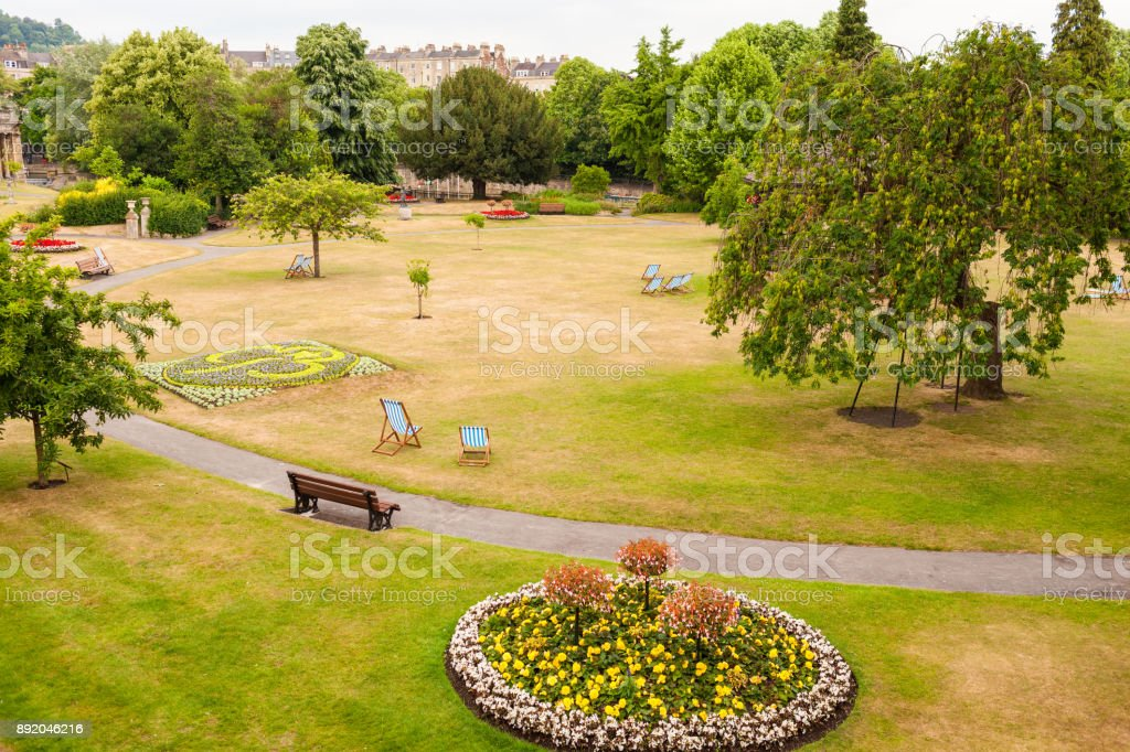 Bath Garden, town of Bath, England stock photo