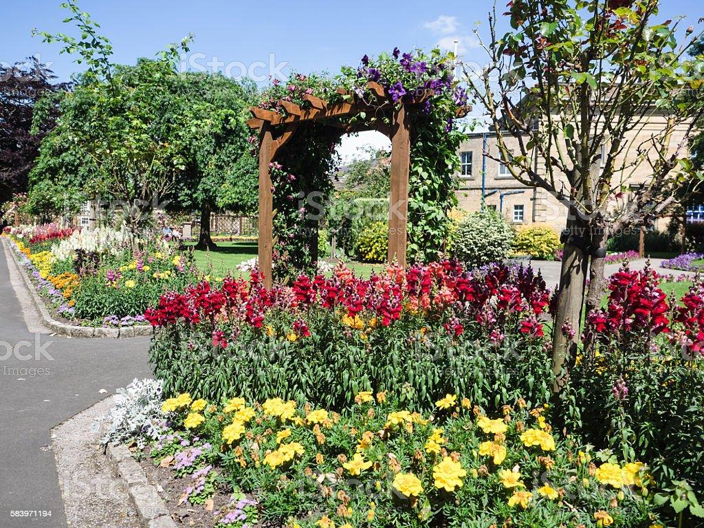 Bath Gardens stock photo