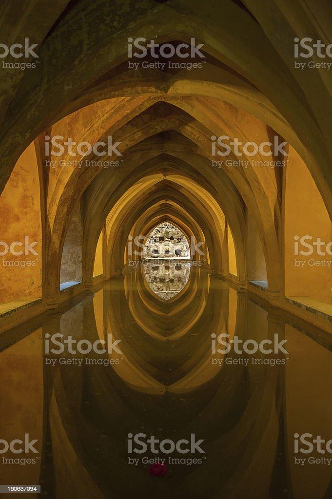 Bath in Alcazar, Seville, Spain royalty-free stock photo