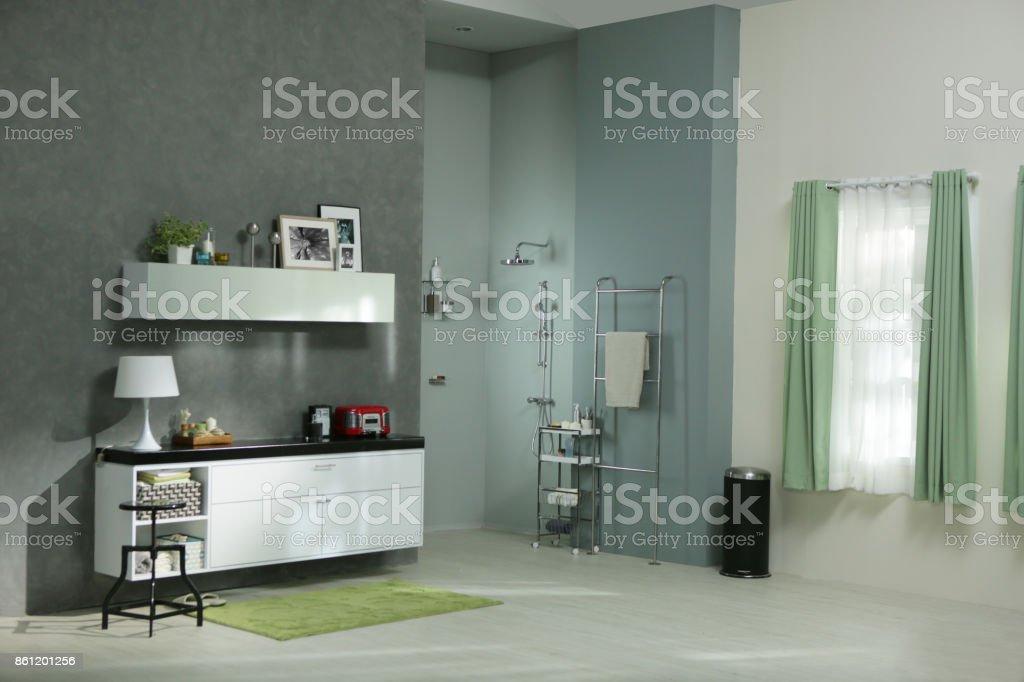 bath in the gray stock photo