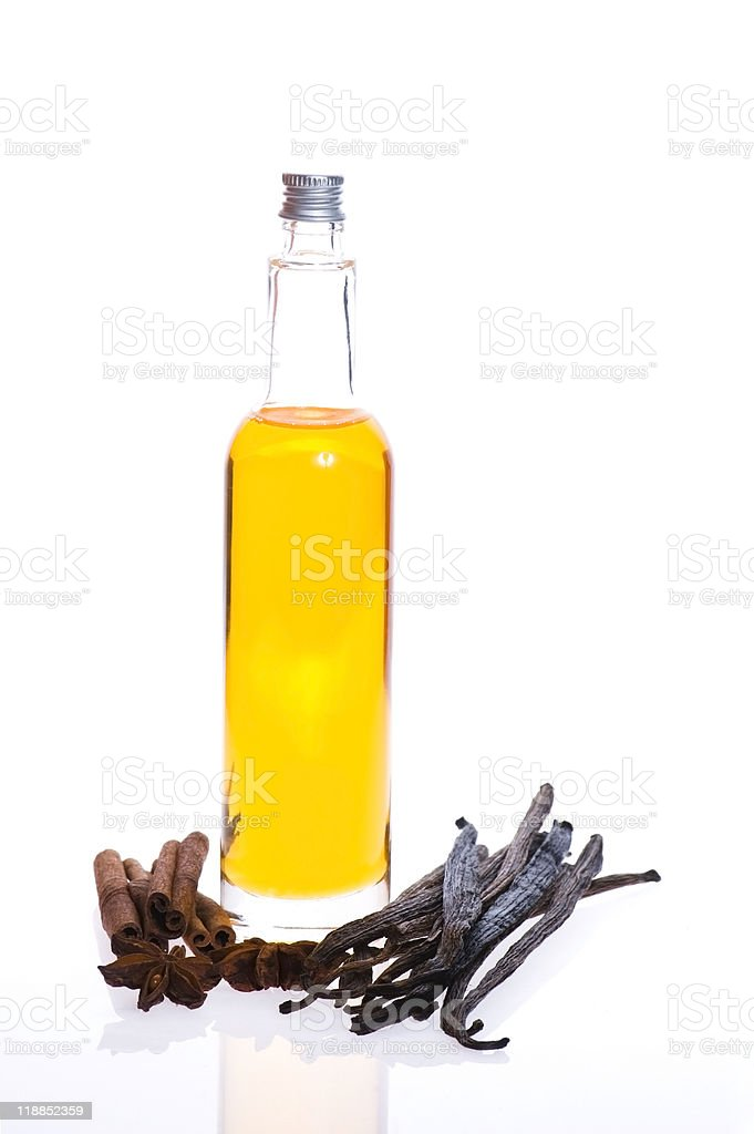 bath oil with spices royalty-free stock photo