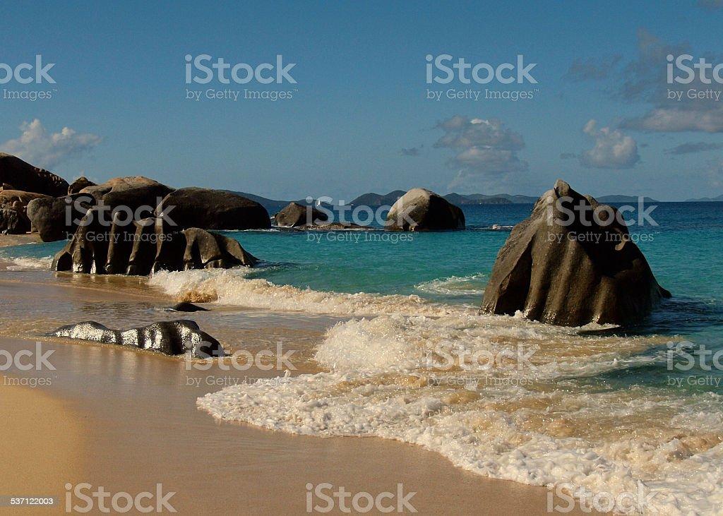 Bath Rocks on the Sea stock photo