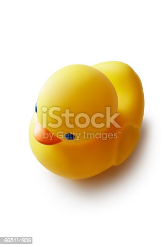 Bath: Rubber Duck Isolated on White Background