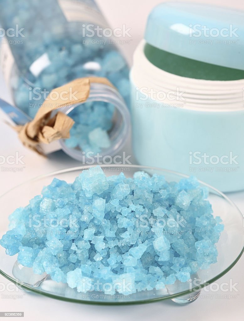 Bath salt for wellness royalty-free stock photo