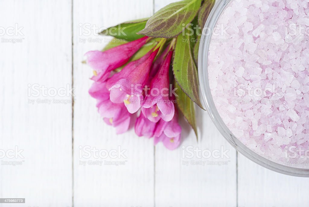 Bath salt royalty-free stock photo