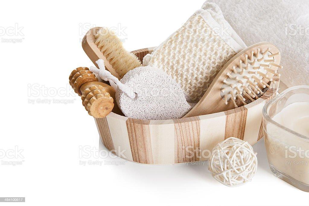 Bath Spa Massage Kit stock photo