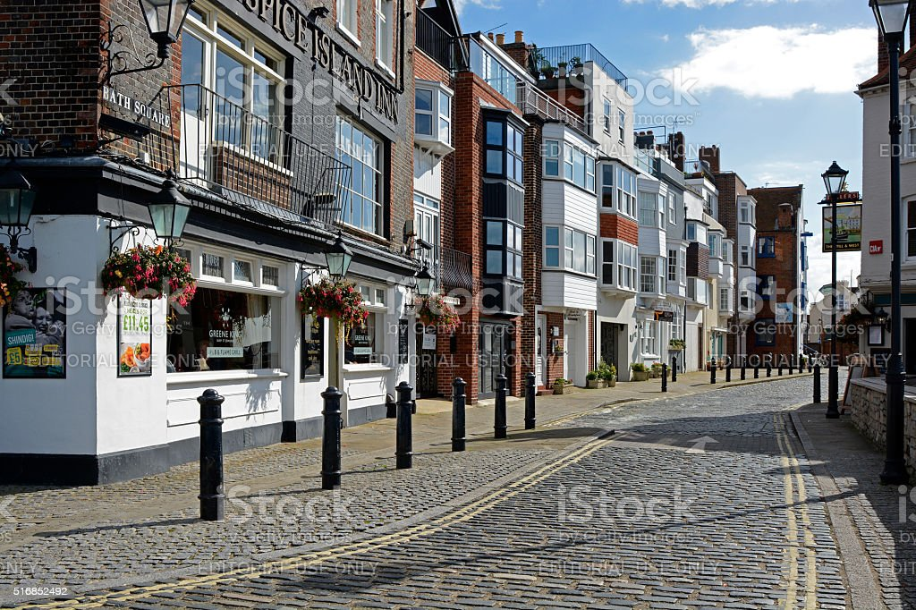 Bath Square in Portsmouth, England stock photo