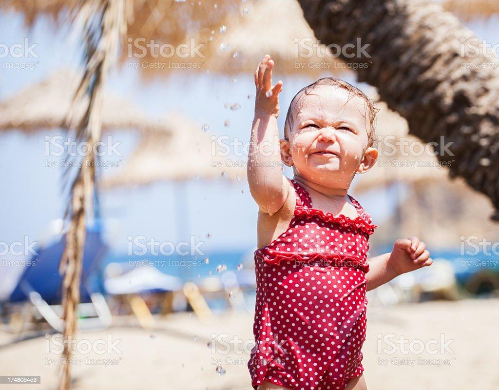 Bath Time on Beach royalty-free stock photo