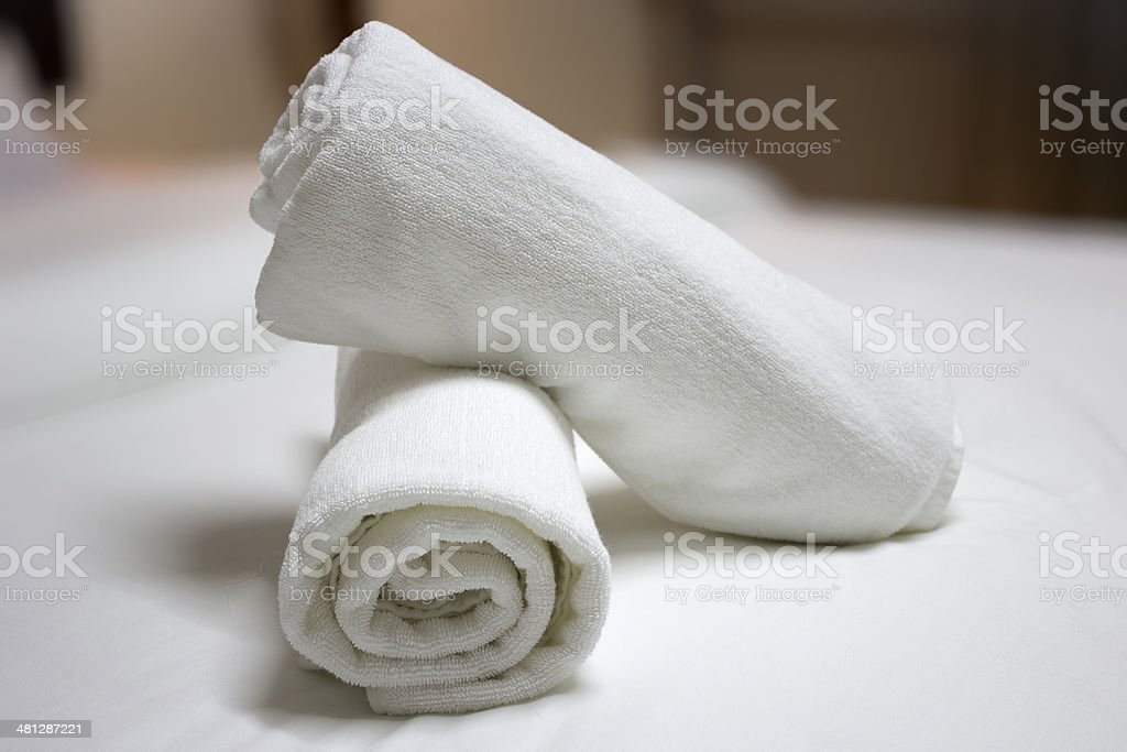 Bath towels stock photo